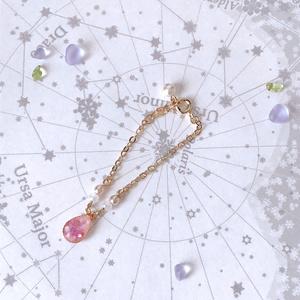 桜花びら雫のぬいネックレス