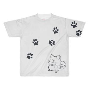 柴犬Tシャツ2白