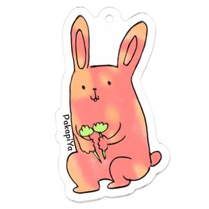 お花摘みウサギ