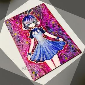 【ATC原画】青いドレスの少女