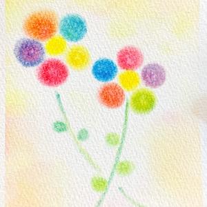 095ぐるぐる色のお花★