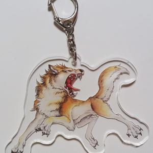 一匹オオカミのキーホルダー