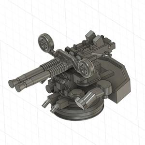 【STLデータ無料配布】1/700 米海軍 ボフォース40mm連装機関砲