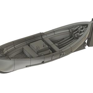 【STLデータ無料配布】1/700 米海軍 26ft Motor WheelNoat Mk1