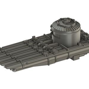 【STLデータ無料配布】 1/700 米海軍 5連装魚雷発射管