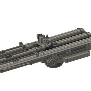 【STLデータ無料配布】1/700 ソ連海軍 駆逐艦用 533mm三連装魚雷発射管