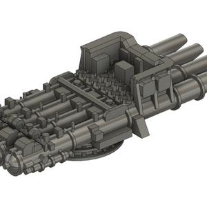 【STLデータ無料配布】1/700 ドイツ国防海軍 4連装533mm魚雷発射管