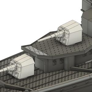 【STLデータ無料配布】1/700 ドイツ国防海軍 12.7cm SK/C単装砲