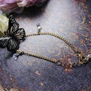 黒蝶のサイケデリカイメージのブレスレット