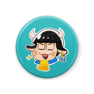 乳牛カラ松缶バッチ
