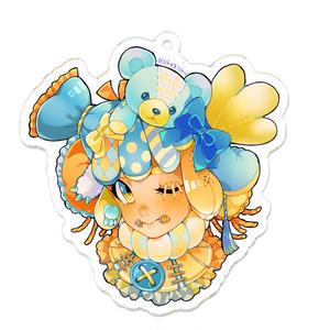 アクリルキーホルダー*[ Nuigurumi head girl ]