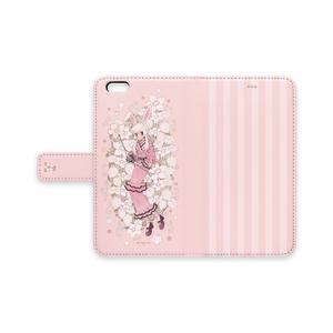 手帳型iPhoneケース【苺と兎】