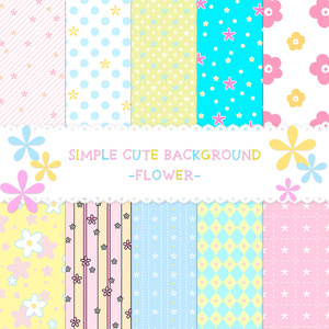 SIMPLE CUTE BACKGROUND -FLOWER-
