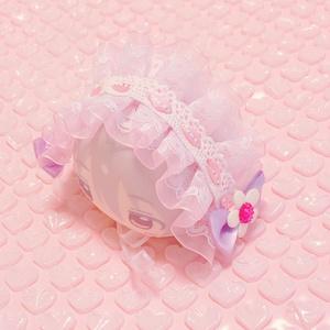ピンクパープル/ヘッドドレス
