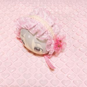 ピンクフラワー/ヘッドドレス