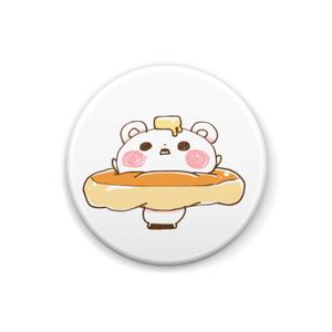 パンケーキクマ缶ばっじ