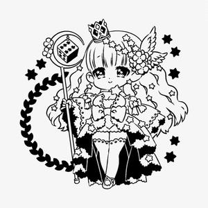 【イラスト入りダイストレイ】デザイントレイ(ダイスの女神様)