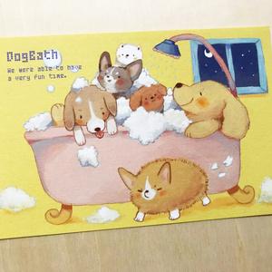ポストカード(DOG BATH)