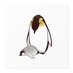 ペンギン親子ステッカー〈おなか〉