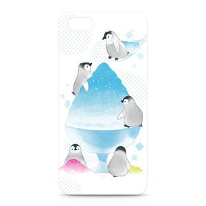 かき氷とペンギンiPhoneケース〈白〉