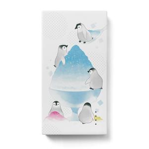 かき氷とペンギン/モバイルバッテリー〈白〉