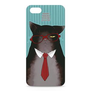 メガネ猫のiPhoneケース