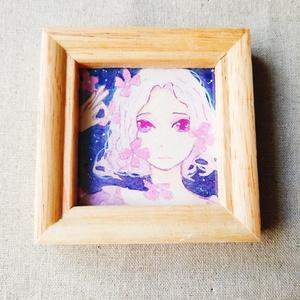 紫陽花ちる少女