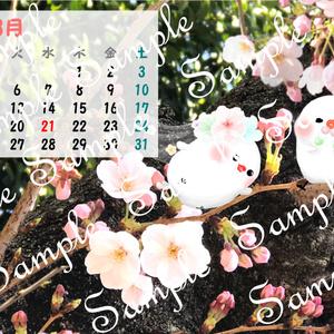 2018年 ちゅんすけカレンダー3月(*•ө•*)