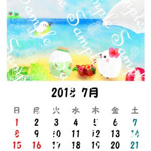 2018年 ちゅんすけカレンダー7月