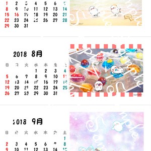 卓上7-9月 2018年ちゅんすけカレンダー(*•ө•*)