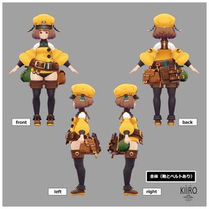 オリジナル3Dモデル『KIIRO(キーロ)』