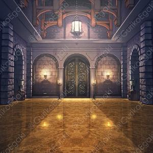 「西洋風お城・城内」背景セット