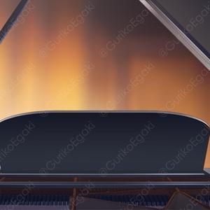 【弾き語り用】グランドピアノ背景素材