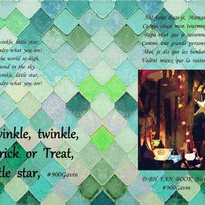 Twinkle, twinkle,Trick or Treat,little star,(2019/12/08)