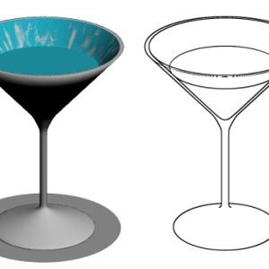 透けてるカクテルグラス