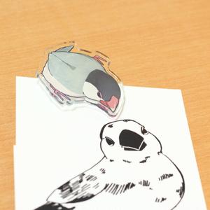 アクリルクリップ 白文鳥