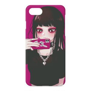 セルフィー少女iPhoneケース