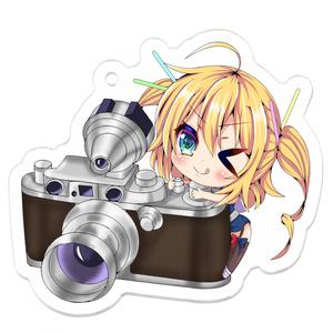 デフォルメカメラグリッドレイ アクリルキーホルダー50×50(mm)