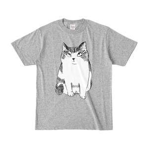 love M カラーTシャツ 杢グレー