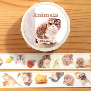 動物がいっぱい!♡マスキングテープ