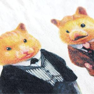 ハムスターになったシャーロック・ホームズ&ワトソン♡キャンバストートバッグ