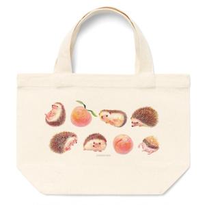 ハリネズミのすももちゃんと完熟スモモがいっぱい!トートバッグ