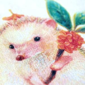 金木犀の花をあつめるハリネズミのむーくん♡キャンバストートバッグ