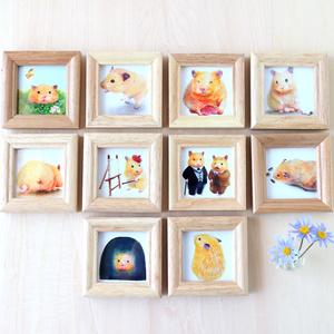 ドスコイおもち【複製原画】壁掛けできる木製フレーム付き♡