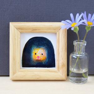 トンネルおもち【複製原画】壁掛けできる木製フレーム付き♡