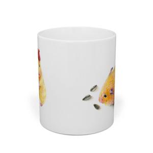 芸術家おもち&ひまわりの種ふんふんおもちのマグカップ♡