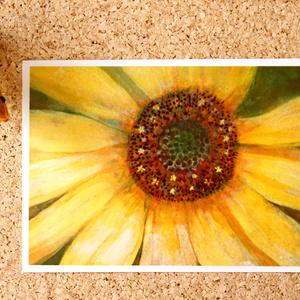 日本画作品ポストカード『ひまわり』