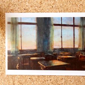 日本画作品ポストカード『夕方は虹色』