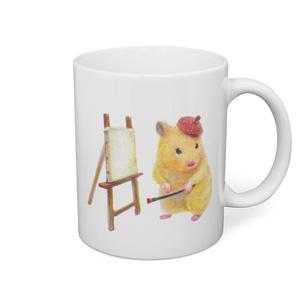 芸術家おもち&ハムケツおもちのマグカップ♡