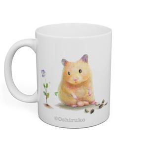 ひまわりの種ふんふんおもち&オオイヌノフグリとおもちのフグリ&顔出しおもちのマグカップ♡